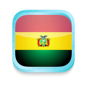 Smart phone button with Bolivia flag — Stock Vector