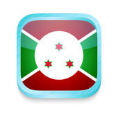 Smart phone button with Bururundi flag — Stock Vector