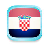 Smart phone button with Croatia flag — Stock Vector
