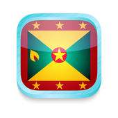 Smart phone button with Grenada flag — Stock Vector