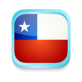 Smart phone button with Chile flag — Stock Vector