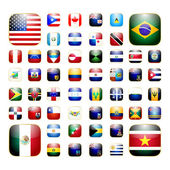 American continent app icon — Stock Vector