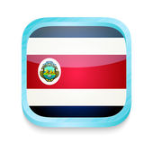 Smart phone button with Costa Rica flag — Stock Vector