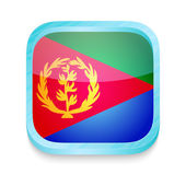Smart phone button with Eritrea flag — Stock Vector