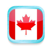 Smart phone button with Canada flag — Stock Vector