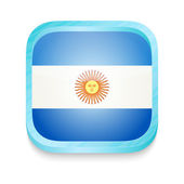 Smart phone button with Argentina flag — Stock Vector