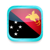 Smart phone button with Papua New Guinea flag — Stock Vector