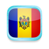 Smart phone button with Moldova flag — Stock Vector