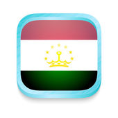 Smart phone button with Tajikistan flag — Stock Vector