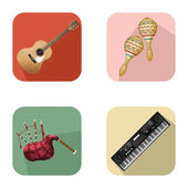 Music and party icons 5 — Vector de stock