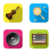 Music and party icons 2 — Vettoriale Stock