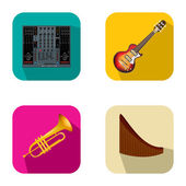 Music and party icons 4 — Vettoriale Stock