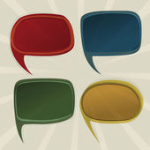 Speech bubbles retro — Vector de stock