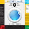 Web design template — Vector de stock #32223021