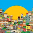 Favela — Stock Vector