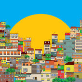 Favela — Stock Vector