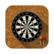 Dart board app icon — Stock Vector