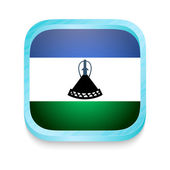 Smart phone button with Lesotho flag — Stock Vector