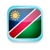 Smart phone button with Namibia flag — Stock Vector