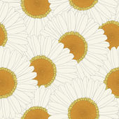 Chamomile retro seamless pattern — Stock Vector
