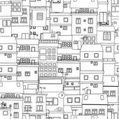 Seamless city sketch — Stock Vector