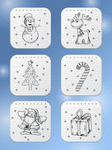 Winter holidays icons — Stock Vector