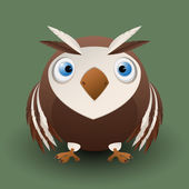 Cute baby owl — Stock Vector