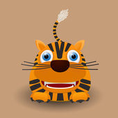 Cute baby tiger — Stock Vector
