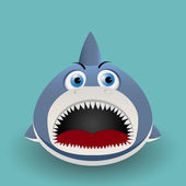 Cute baby shark — Stock Vector
