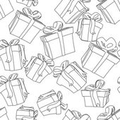 Seamless gift pattern — Stock Vector