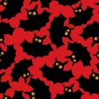 Halloween bats pattern — Vector de stock
