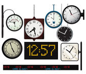 Train station watches collection — Stock Vector