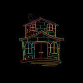 Dibujo de casa — Vector de stock