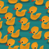 Baby ducks pattern — Stock Vector