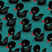 Black baby ducks — Stock Vector