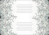 Decorative text card design — Stock Vector