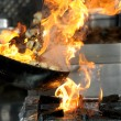 Stock Photo: Blue, burning, close, component, cookery, danger,
