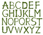 Tee English alphabet — Stock Photo