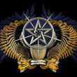 Coat of arms with pentagram — Stock Photo