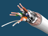 Cable SSTP cat6a (Twisted pair) — Stock Photo