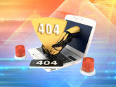 Page not found - error 404 — Stock Photo