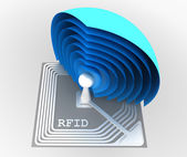 Rfid chip — Stock Photo