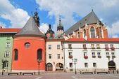 Krakow. Small Market Square — Stock Photo