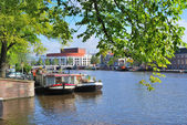 Amsterdam. Amstel river — Stock Photo