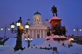 Helsinki at twilight — Stock Photo