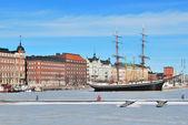 Helsinki in de winter — Stockfoto