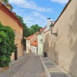 Prague. Narrow street in the Old Town - Stock Photo