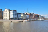 Helsinki. North Quay in spring — Stockfoto