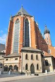 Krakow, Poland. St. Mary's Church — Foto de Stock