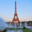 Paris. Eiffel Tower before sunset — Stock Photo #26623347